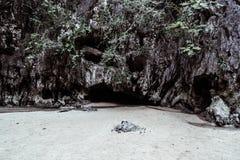 A caverna de Davil Imagem de Stock Royalty Free