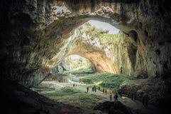 Caverna de Devetashka no lovech Bulgária Fotos de Stock