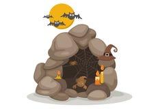 Caverna de Dia das Bruxas Foto de Stock Royalty Free