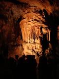 Caverna de Domica em Eslováquia Fotos de Stock Royalty Free
