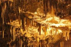A caverna de Drogarati Ilha de Cephalonia ou de Kefalonia, mar Ionian, Grécia imagens de stock royalty free