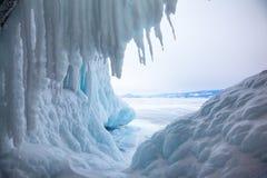 Caverna de gelo Imagem de Stock