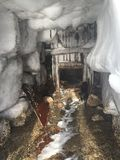 Caverna de gelo Fotografia de Stock