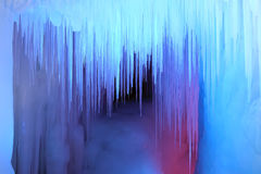 Caverna de gelo foto de stock