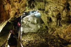 Caverna de gelo de Demanovska Foto de Stock
