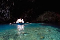 Caverna de Melissani Imagem de Stock