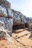 Caverna de Panagia Arkoudiotissa imagem de stock
