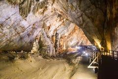 Caverna de Paradise no parque nacional do golpe de Phong Nha-KE, local do patrimônio mundial do UNESCO em Quang Binh Province, Vi imagem de stock
