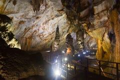 Caverna de Paradise no parque nacional do golpe de Phong Nha-KE, local do patrimônio mundial do UNESCO em Quang Binh Province, Vi imagens de stock royalty free