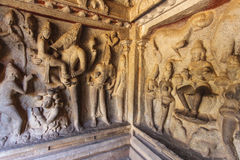 Caverna de Varaha - um local do patrimônio mundial do Unesco - em Mamallapuram (Mahabalipuram) no Tamil Nadu, Índia foto de stock royalty free