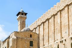 Caverna dei patriarchi, caverna di Machpelah in Hebron, Israele Fotografia Stock
