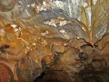Caverna del aragonite di Ochtinska, Slovacchia Immagini Stock Libere da Diritti