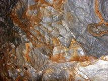 Caverna del aragonite di Ochtinska, Slovacchia Fotografie Stock