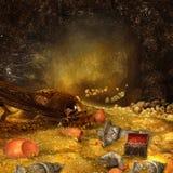 Caverna del drago Immagine Stock