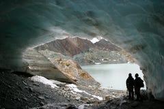 Caverna del ghiacciaio fotografie stock