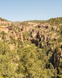 Caverna del parco della montagna dei venti, Williams Canyon, CO Fotografia Stock