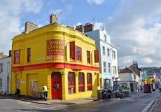 Caverna del tambor de la señal y tienda del centro del PA en Brighton Laines Fotografía de archivo
