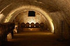 Caverna del vino Fotografie Stock Libere da Diritti