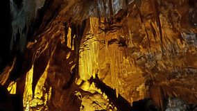 Caverna dell'Unione Sovietica Mannau con l'organo delle stalattiti Fotografia Stock Libera da Diritti
