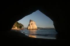 Caverna della baia della cattedrale Fotografia Stock