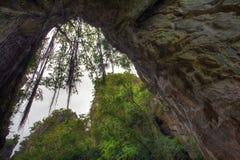 Caverna della montagna di marmo alla città di Da Nang Fotografie Stock