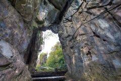 Caverna della montagna di marmo alla città di Da Nang Immagine Stock
