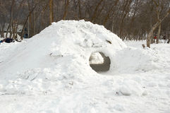 Caverna della neve Immagine Stock Libera da Diritti