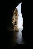 Caverna della spiaggia fotografia stock