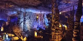 Caverna della stalattite Immagine Stock