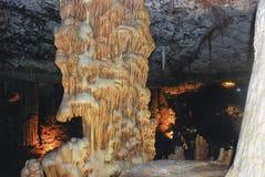 Caverna della stalattite, Israele Fotografia Stock Libera da Diritti