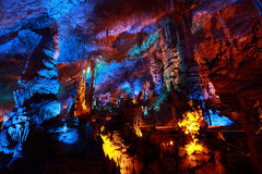 Caverna di Avshalom (caverna) di Soreq, Israele fotografia stock libera da diritti