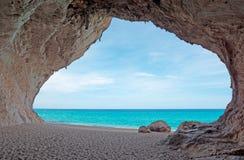 Caverna di Cala Luna Immagini Stock