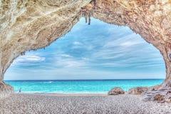 Caverna di Cala Luna Fotografia Stock Libera da Diritti
