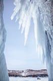 Caverna di ghiaccio Fotografie Stock