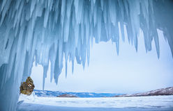 Caverna di ghiaccio immagine stock