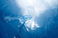 Caverna di ghiaccio blu Fotografia Stock