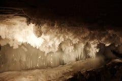 Caverna di ghiaccio di Kungur Immagini Stock