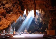 Caverna di Khao Luang, Phetchaburi Tailandia Fotografia Stock Libera da Diritti