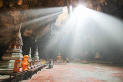 Caverna di Khao Luang, Phetchaburi Tailandia Fotografia Stock