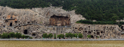Caverna di Longmen Fotografia Stock