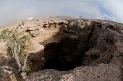 Caverna di Majlis Al-Jin Fotografie Stock Libere da Diritti