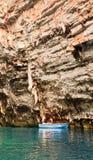Caverna di Melissani Fotografie Stock Libere da Diritti