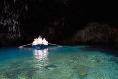 Caverna di Melissani Immagine Stock