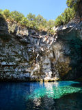 Caverna di Melissani, Kefalonia Fotografia Stock