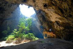 Caverna di Nakhon della Caverna-Phraya. Immagini Stock Libere da Diritti
