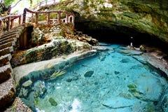 Caverna di Ogtong sull'isola di Bantayan, Filippine Immagini Stock Libere da Diritti