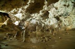Caverna di Polovragi dal distretto di Gorj, in Oltenia, la Romania fotografie stock libere da diritti