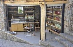 Caverna di Zeus Way Olive Oil Kiosk nell'isola di Creta della Grecia immagine stock libera da diritti