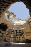 Caverna do Columbarium de Adullam na terra de Judea imagens de stock royalty free