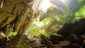 Caverna do curso Hup no parque nacional do patat, província de Uthaithani, Tailândia Fotografia de Stock